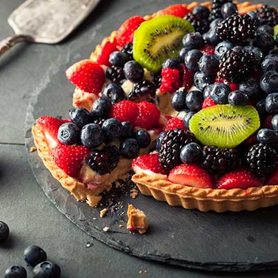 Jim Dodge's Lime and White Chocolate Fruit Tart